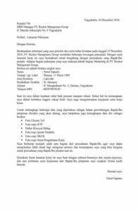 Contoh Surat Lamaran Kerja Graveekacom